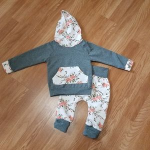 Toddler girl sweatsuit outfit